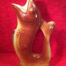Vintage French Majolica Happy Fish Pitcher, fm963