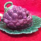 Beautiful Vintage Sarreguemines Majolica Palissy Large Jam Jelly Pot, fm960