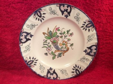 Old Longwy Hand Painted Faience Cornucopia Plate, ff384