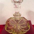 Vintage Czechoslovakian Crystal Perfume Bottle w Stopper c1920's, gl107
