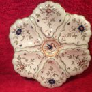 Antique Vintage French Faience Majolica Oyster Plate, op231