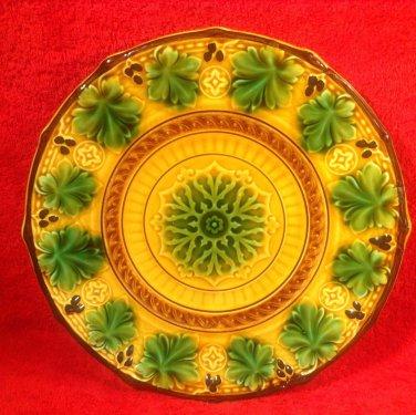 Footed Antique German Majolica Platter c1840, gm619