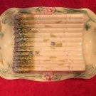 Antique Majolica Asparagus Platter Onnaing c1850-1890, fm940