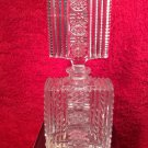 Gorgeous Brilliant Period Czechoslovakian Hand Cut Crystal Perfume Bottle, gl109