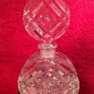 Antique Brillant Period Hand Cut Crystal Perfume Bottle, gl110