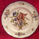 Antique Vintage French Faience Tulip Bouquet Plate by Pierre Dubois c1921, ff408