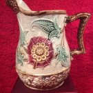 Beautiful Antique French Majolica Pitcher c.1800-1880, fm951