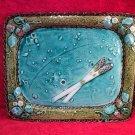 Antique French Majolica Luneville Asperagus &Strawberries Platter, fm883