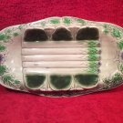 Antique Majolica Asparagus Platter c1800's, fm953