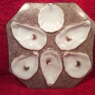 Rare Unusual Antique Oyster Plate, op240