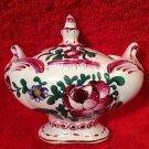 Antique Chaumeil French Faience de L'Est Vieux Strasbourg Condiment Jar, ff303