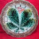 Antique Art Nouveau Majolica Chestnut Plate 1800's gm699