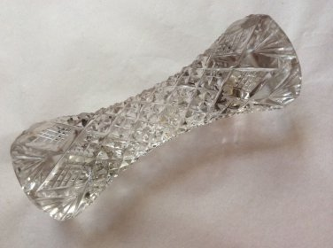 Antique French Victorian Oval Crystal Master Knife Rest, gl126