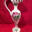 Antique Hand Painted French Faience Ewer Vase Henri Chaumeil c1890-1920, ff326