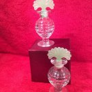 Vintage 1930's Pair of French Perfume Bottles w Ground Stoppers, gl115