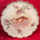 Antique Hand Painted French Limoges European Pike or Pickeral Fish Plate, L289