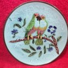 Antique Majolica Lovebirds on a Branch with Flowers Plate c.1800's, fm927