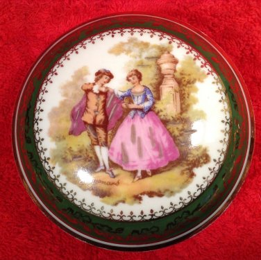 Vintage Limoges France Porcelain Dresser Trinket Box c.1940's, L237