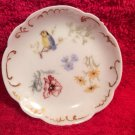 Antique Hand painted Haviland Limoges Butter Pat Bird & Flowers w Gold c.1888, L290