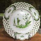 Antique French Faience Chinoiserie Plate c. before 1880 White & Green, ff448