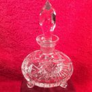 Gorgeous Vintage Footed Crystal Perfume Scent Bottle, gl120