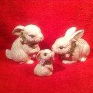 Vintage Art Pottery Bunny Rabbit Family, p194
