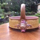 Antique Victorian Majolica Basket c.1800's, fm998