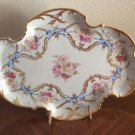 Beautiful Vintage Hand Painted Limoges Dresser Platter Tray w Gold, L328
