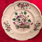 Antique French Faience Hand Painted Birds of Paradise Plate c.1890-1920, ff321