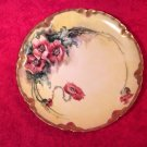Antique Handpainted Limoges Poppies Plate c.1894-1931 Signed, L267