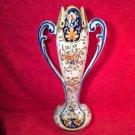 Vintage Desvres French Faience Geo Martel 2 Handled Vase, ff320