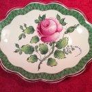 Beautiful Antique French Faience de l'Est Hand Painted Rose Dish c1800's, ff360