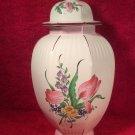 Vintage Luneville French Faience Ginger Jar Covered Vase c1984, lun104