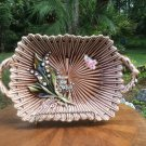 Antique German Majolica Lily of the Valley handled Platter c.1800's, gm827