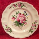 Stunning Handpainted Vintage French Faience Flowers Plate St. Clement, ff392