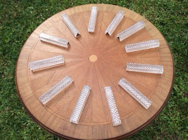 Antique Vintage French Crystal Knife Rests Set of 12, gl108