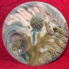 ANTIQUE MAJOLICA ASPARAGUS ARTICHOKE PLATE LUNEVILLE c.1880-1890, fm1111