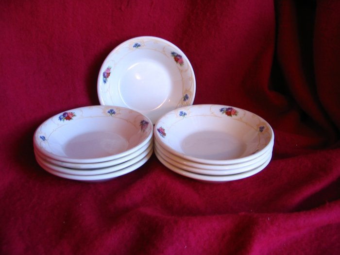 Pretty Royal Doulton Set of NINE Butter Pats Nut Dishes  cuppatea.ecrater.com