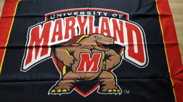University of Maryland - team logo fleece throw blanket 44x 53