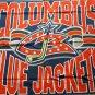 Columbus Blue Jackets team logo fleece throw blanket 44x 53
