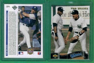 15 - Upper Deck 1991 - Card SP4 - Frank Thomas - Tom Selleck - Mr. Baseball Movie - Toploaders