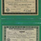 2 - 1942 Boy Scout - Eagle and Merit Certificates