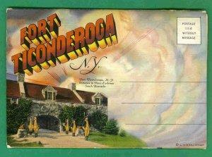 3 - Linen Postcard Folders New York 1930s - 52 Views