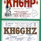 2 - Hawaii Collectible QSL Ham Radio Cards - 1965 + 1968