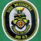 USS Missouri Patch - BB63