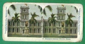 1 - Hawaiian Polychrome Stereo View Card - Vintage