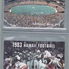 University Of Hawaii Football Schedule Cards - 1982 + 1983