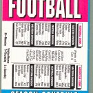 NFL Football 1996 Slide Out Schedule Card