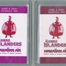 Hawaii Islanders Baseball Schedules - 1979 and 1980 - Hawaiian Air