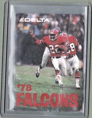 1978 - Atlanta Falcons Schedule Card - Delta Airlines